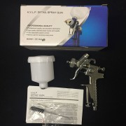 STARCHEM Profi Lackierpistole Mini Spritzpistole HVLP Düsen: 0,8 + 1.0mm Chrom