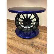 """Tisch aus Felge R&H 16"""" in Carbonoptik mit LED"""