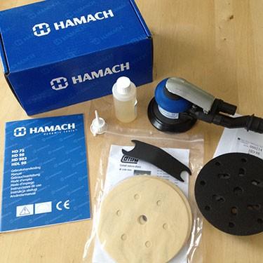 HAMACH-Elektr.rotierende Poliermaschine RH26E -200mm/Stützt.150mm-Drehzahlkontrolle